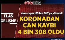 Türkiye'de koronavirüsten can kaybı 4 bin 308'e yükseldi