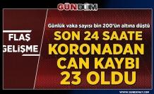 Türkiye'de son 24 saatte 1192 yeni vaka: Koronavirüs nedeniyle 23 kişi yaşamını yitirdi