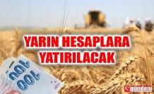 TARIMSAL DESTEK ÖDEMELERİ YARIN HESAPLARA YATIRILACAK