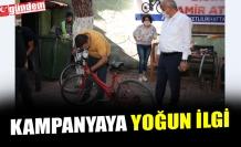 """""""BİSİKLETİNİ TAMİR ETTİRİYORUZ"""" KAMPANYASINA YOĞUN İLGİ"""