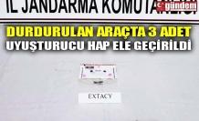 DURDURULAN ARAÇTA 3 ADET UYUŞTURUCU HAP ELE GEÇİRİLDİ