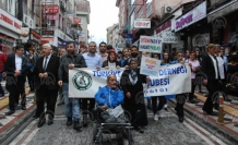 Bartın'da, Engelliler Haftası dolayısıyla yürüyüş yapıldı