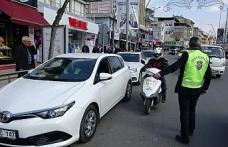 Sivil trafik polisleri iş başında
