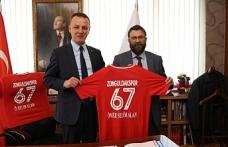 Zonguldakspor heyetinden Alan'a ziyaret