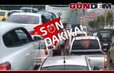 GAZİPAŞA KAPATILDI, TRAFİK KİTLENDİ...