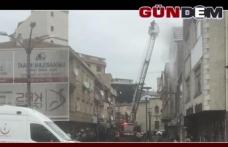 Kozlu'da çatı yangını paniği