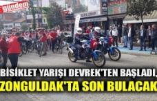 BİSİKLET YARIŞI DEVREK'TEN BAŞLADI, ZONGULDAK'TA BİTECEK