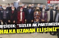 """AYÇİÇEK; """"SİZLER AK PARTİMİZİN HALKA UZANAN ELİSİNİZ"""""""