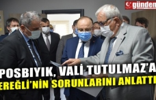 POSBIYIK, VALİ TUTULMAZ'A EREĞLİ'NİN SORUNLARINI ANLATTI