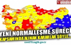 YENİ NORMALLEŞME SÜRECİ KAPSAMINDA ALINAN KARARLAR ŞÖYLE...