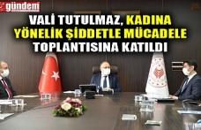 VALİ TUTULMAZ, KADINA YÖNELİK ŞİDDETLE MÜCADELE TOPLANTISINA KATILDI