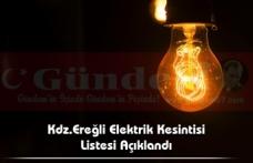 Kdz.Ereğli Elektrik Kesintisi Listesi Açıklandı