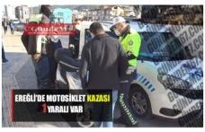 Ereğli'de motosiklet kazası!!