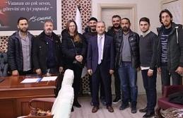 Gazetecilerden yeni sağlık müdürüne ziyaret
