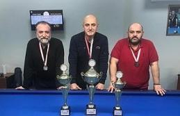 Bilardo il şampiyonu Kazım Canbul oldu