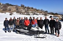Keltepe kayak merkezi için kar motoru alımı yapıldı