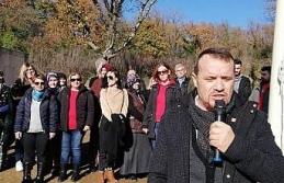 İlçenin en küçük köyüne dev Türk bayrağı dikildi