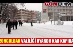 Zonguldak valiliği uyardı! kar kapıda