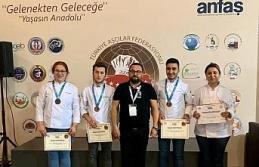 KBÜ aşçılık öğrencilerinden Antalya'da gümüş ve bronz madalya