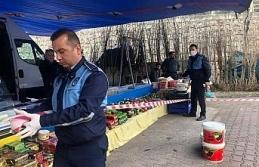 Halk pazarında 3 metre kuralı uygulaması başladı