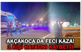 AKÇAKOCA'DA FECİ KAZA!
