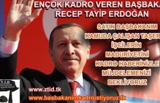 TAŞERON İŞÇİLER SESLERİNİ DUYURABİLMEK İÇİN...