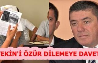 ÖZTÜRK, TEKİN'İ ÖZÜR DİLEMEYE DAVET ETTİ