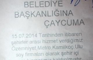 OTOBÜS FİRMALARI SERVİSLERİ BIRAKIYOR