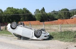 Test sürüşü yaparken panik yaptı, takla attı