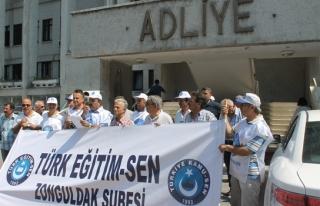 Adliye önünde protesto