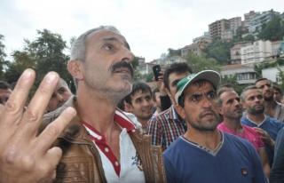 İşsiz kalan maden işçileri Vali Kaban ile görüştü