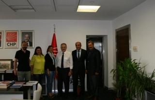CHP Ereğli İlçe Örgütü genel merkezi ziyaret...
