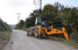 Yol onarım çalışmasına başlandı