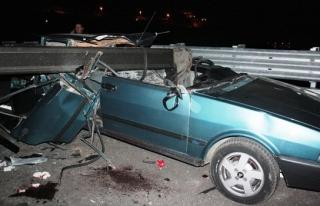 Trafiğe kapalı olan yolda feci kaza: 1 ölü, 3...