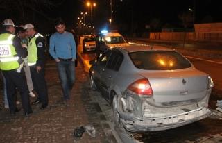 Kaza yapan otomobil sürücüsü karakolda gerçeği...