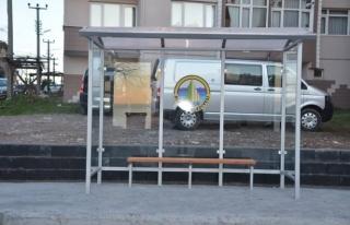 Alaplı'ya modern otobüs durakları