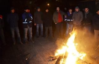 Termik santral işçilerinden eylem