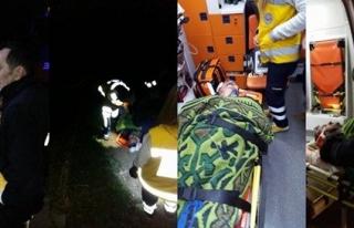 25 metrelik uçurumdan düşen kişiyi itfaiye ekipleri...