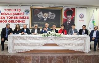 Toplu iş sözleşmesi imza töreni gerçekleştirildi