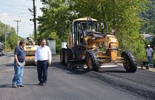 2018'in ilk asfaltı döküldü