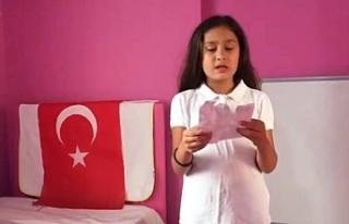 Ayan'a şiir yazdı!