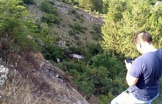 Aracıyla 25 Metreden Kanyona Uçtu: 1 Yaralı