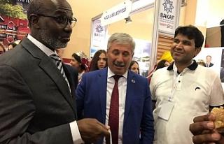 Somali Devlet Bakanı ile bir araya geldi!