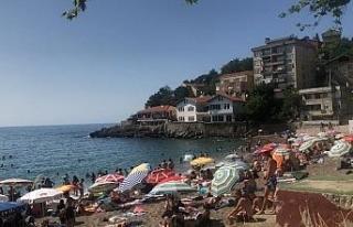 Halk plaja akın etti
