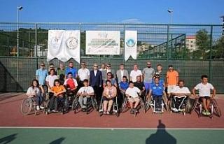 Bartın'da tekerlekli sandalye tenis turnuvası...