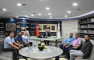 Başkan Ay'ı 6. komite başkanı ziyaret etti