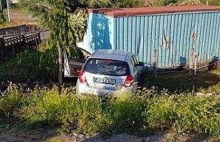 Akçakoca çevre yolunda kaza: 1 yaralı