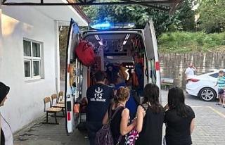 Boğulmakta olan kadın son anda kurtarıldı
