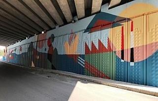 Karabük'te duvarlar rengarenk