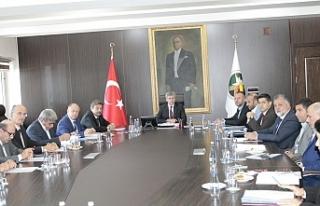 Vali Çınar Başkanlığında toplandılar